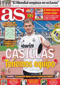 Portada diario AS del 5 de Agosto de 2011