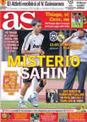 Portada diario AS del 6 de Agosto de 2011