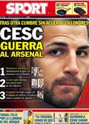 Portada diario Sport del 6 de Agosto de 2011