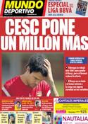 Portada Mundo Deportivo del 6 de Agosto de 2011