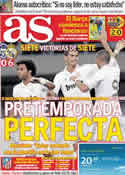 Portada diario AS del 7 de Agosto de 2011