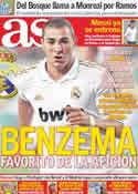 Portada diario AS del 8 de Agosto de 2011