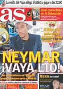 Portada diario AS del 9 de Agosto de 2011