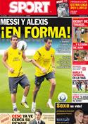 Portada diario Sport del 9 de Agosto de 2011