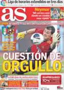 Portada diario AS del 10 de Agosto de 2011