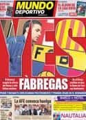 Portada Mundo Deportivo del 12 de Agosto de 2011