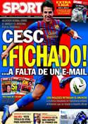 Portada diario Sport del 13 de Agosto de 2011