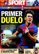 Portada diario Sport del 14 de Agosto de 2011