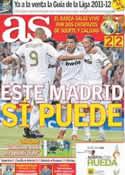 Portada diario AS del 15 de Agosto de 2011