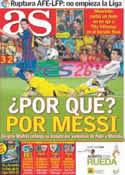 Portada diario AS del 18 de Agosto de 2011