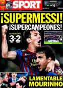 Portada diario Sport del 18 de Agosto de 2011