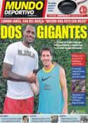Portada Mundo Deportivo del 21 de Agosto de 2011