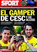 Portada diario Sport del 22 de Agosto de 2011