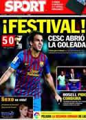 Portada diario Sport del 23 de Agosto de 2011