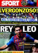 Portada diario Sport del 25 de Agosto de 2011
