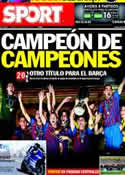 Portada diario Sport del 27 de Agosto de 2011