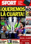 Portada diario Sport del 29 de Agosto de 2011