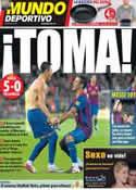 Portada Mundo Deportivo del 30 de Agosto de 2011