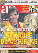 Portada diario AS del 31 de Agosto de 2011