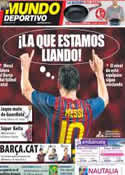 Portada Mundo Deportivo del 31 de Agosto de 2011