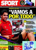 Portada diario Sport del 1 de Septiembre de 2011