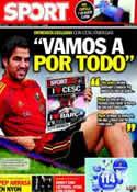 Portada diario Sport del 1 de Septiembre de 2011