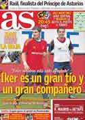 Portada diario AS del 2 de Septiembre de 2011