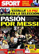 Portada diario Sport del 2 de Septiembre de 2011
