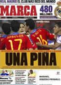 Portada diario Marca del 3 de Septiembre de 2011