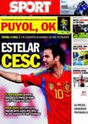 Portada diario Sport del 3 de Septiembre de 2011