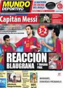 Portada Mundo Deportivo del 3 de Septiembre de 2011