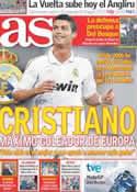 Portada diario AS del 4 de Septiembre de 2011