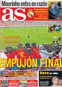 Portada diario AS del 6 de Septiembre de 2011