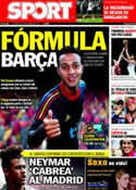 Portada diario Sport del 6 de Septiembre de 2011