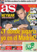 Portada diario AS del 8 de Septiembre de 2011