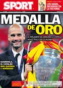 Portada diario Sport del 8 de Septiembre de 2011