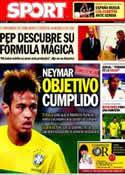 Portada diario Sport del 9 de Septiembre de 2011