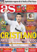 Portada diario AS del 10 de Septiembre de 2011