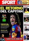 Portada diario Sport del 10 de Septiembre de 2011