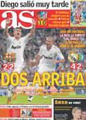 Portada diario AS del 11 de Septiembre de 2011