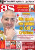 Portada diario AS del 12 de Septiembre de 2011