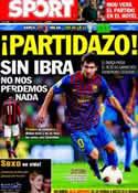 Portada diario Sport del 13 de Septiembre de 2011