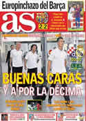 Portada diario AS del 14 de Septiembre de 2011