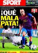 Portada diario Sport del 14 de Septiembre de 2011