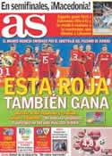 Portada diario AS del 15 de Septiembre de 2011