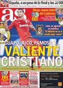 Portada diario AS del 16 de Septiembre de 2011
