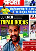 Portada diario Sport del 17 de Septiembre de 2011