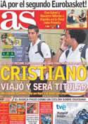 Portada diario AS del 18 de Septiembre de 2011