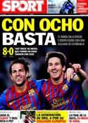 Portada diario Sport del 18 de Septiembre de 2011