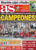 Portada diario AS del 19 de Septiembre de 2011